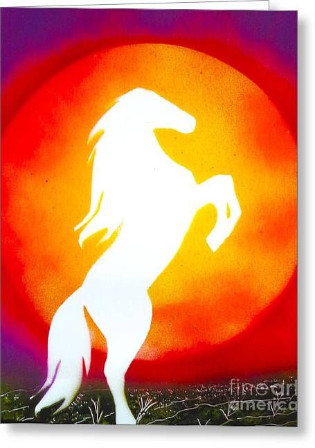 Dorsett Greeting Cards - Wild Stallion Greeting Card by William  Dorsett