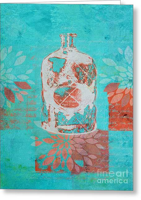 Turquoise Blue Greeting Cards - Wild Still Life - 13311a Greeting Card by Variance Collections