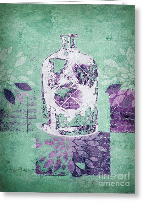 Green Design Greeting Cards - Wild Still Life - 32311b Greeting Card by Variance Collections