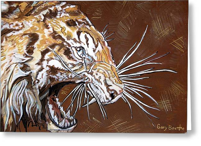 The Tiger Greeting Cards - Wild Tiger Greeting Card by Gary Beattie