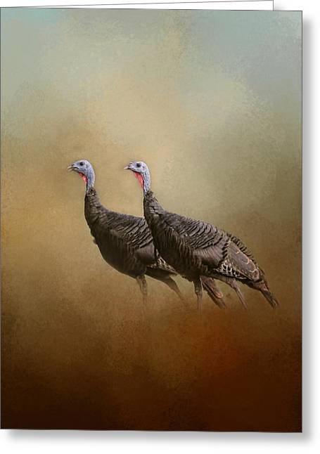 Wild Turkey At Shiloh Greeting Card by Jai Johnson
