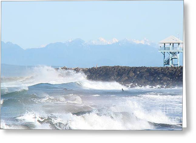 Pacific Ocean Prints Greeting Cards - Wild Waves  Greeting Card by Beverly Guilliams