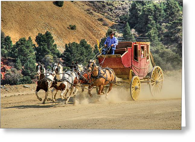 Canon 7d Greeting Cards - Wild West Ride 2 Greeting Card by Donna Kennedy