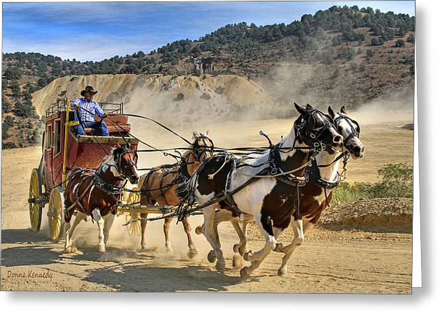 Canon 7d Greeting Cards - Wild West Ride Greeting Card by Donna Kennedy