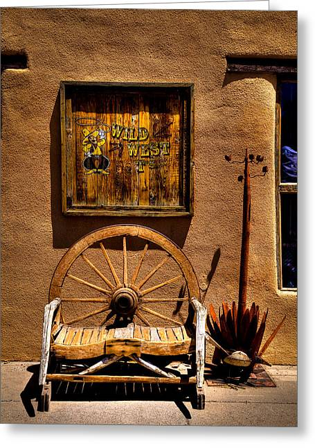 T Shirts Greeting Cards - Wild West T-Shirts - Old Town New Mexico Greeting Card by David Patterson