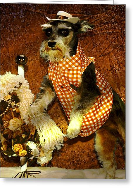 Dog Greeting Cards - Wild West Greeting Card by Tisha McGee