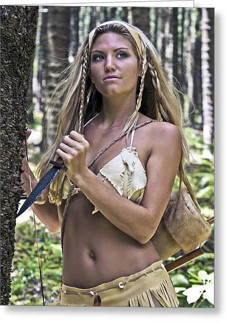 Warrior Goddess Photographs Greeting Cards - Wild Woman 3 Greeting Card by Don Ewing