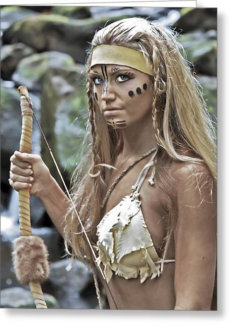 Warrior Goddess Photographs Greeting Cards - Wild Woman 1 Greeting Card by Don Ewing