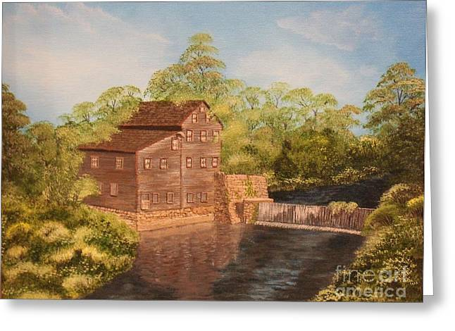 Muscatine Greeting Cards - Wildcat Den Grist Mill Greeting Card by Ronald Gater