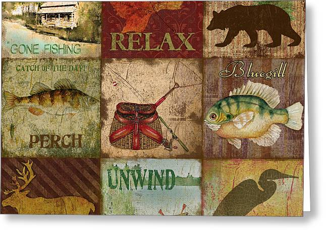 Unwind Paintings Greeting Cards - Wilderness Bliss Greeting Card by Jean Plout
