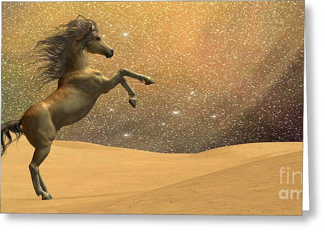 Horse Images Digital Art Greeting Cards - Wilderness Horse Greeting Card by Corey Ford