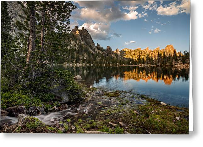Frank Church River Of No Return Greeting Cards - Wilderness Lake Greeting Card by Leland D Howard