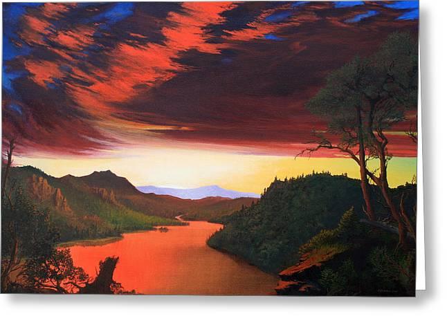 Robert Duvall Greeting Cards - Wilderness Twilight Greeting Card by Robert Duvall