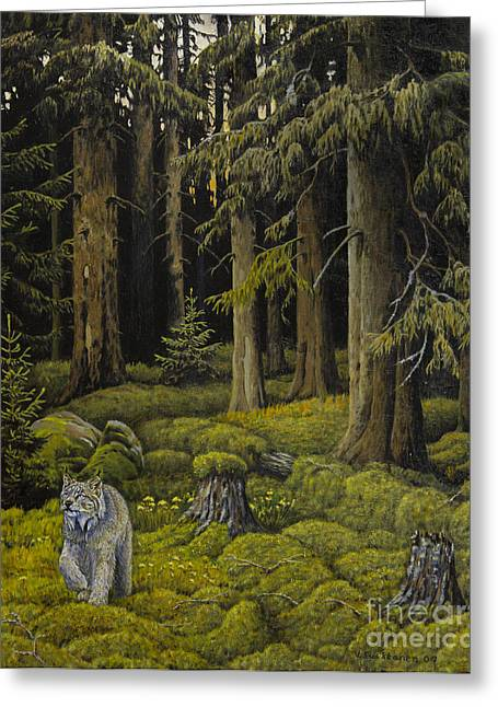 Harmonious Paintings Greeting Cards - Wilderness Greeting Card by Veikko Suikkanen