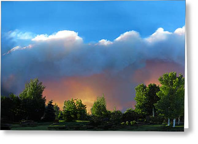 Fort Collins Greeting Cards - Wildfire Coming Greeting Card by Ric Soulen