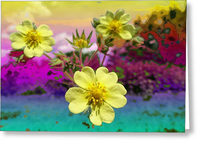 Wildflower Abstract Greeting Card by Mike Breau