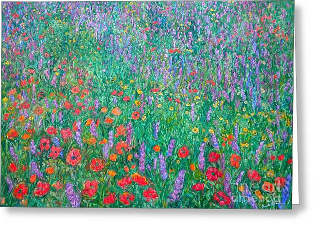 Impressionist Greeting Cards - Wildflower Current Greeting Card by Kendall Kessler