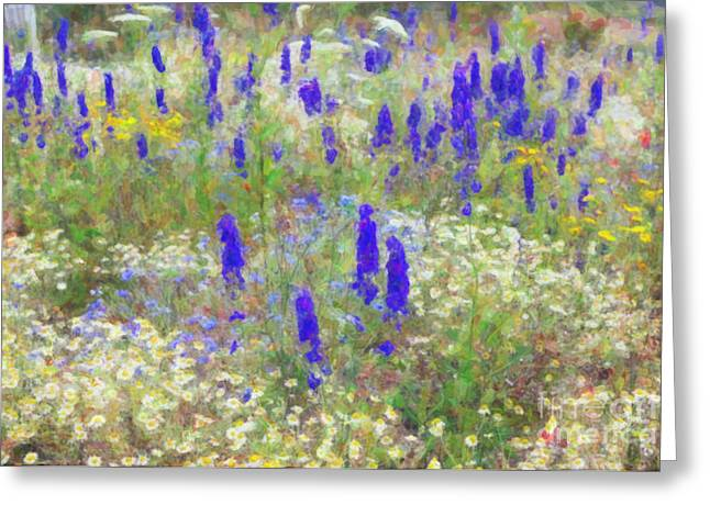Botanicals Digital Art Greeting Cards - Wildflower Watercolour Greeting Card by Tim Gainey