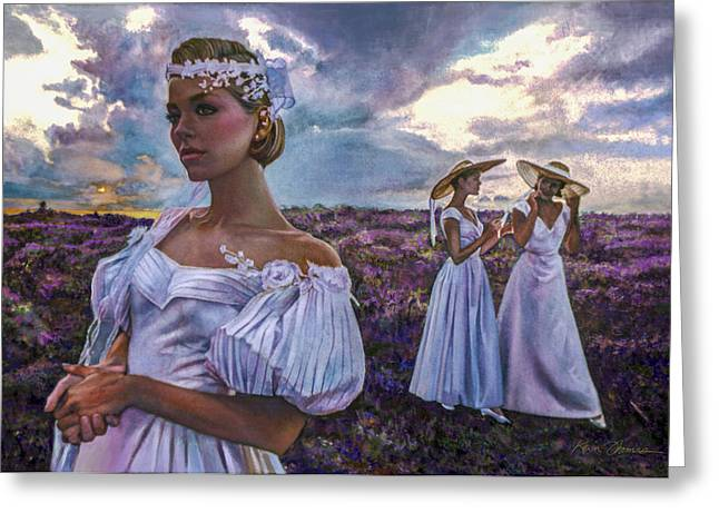 St Petersburg Florida Paintings Greeting Cards - Wildflower Wedding Greeting Card by Kevin Thomas