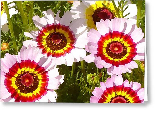 Wildflowerd Wide 1 Greeting Card by Amy Vangsgard