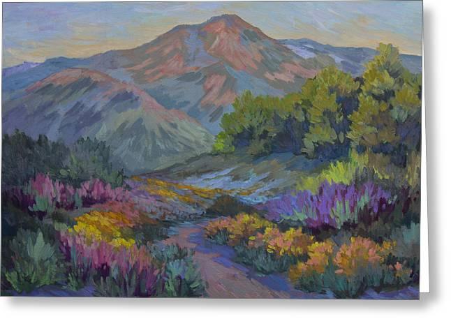 Barbara Paintings Greeting Cards - Wildflowers in Full Bloom Greeting Card by Diane McClary