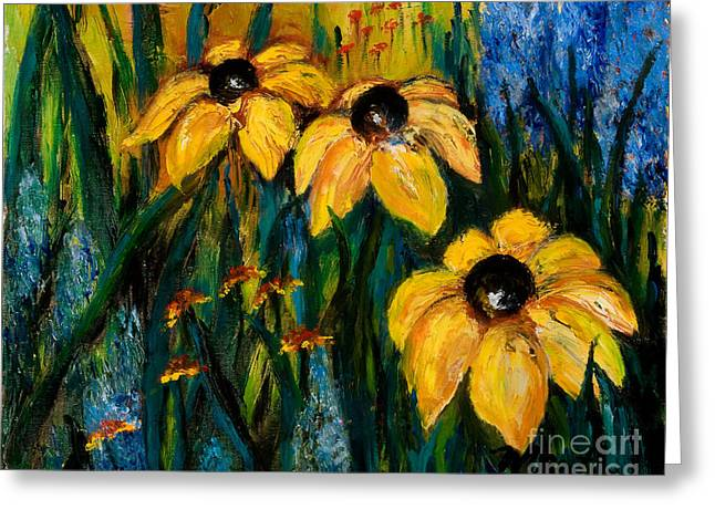 Wildflowers Greeting Card by Larry Martin