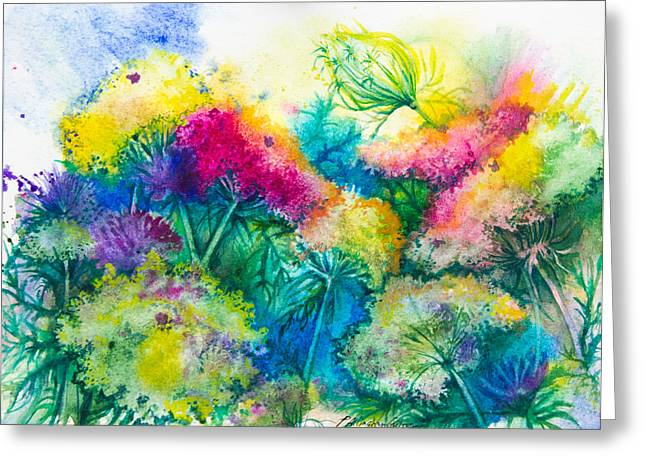 Ann Paintings Greeting Cards - Wildflowers Greeting Card by Patricia Allingham Carlson
