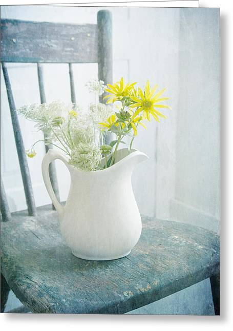 Michigan Farmhouse Photography Greeting Cards - Wildflowers Still Life Greeting Card by Susan Blatchford