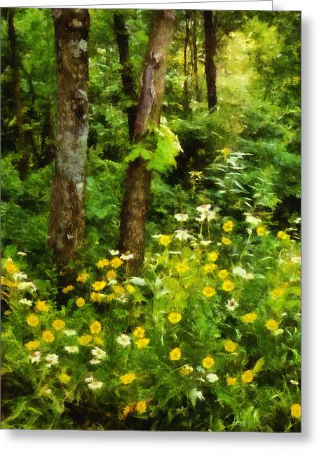 Wildflowers Two Greeting Card by Ann Powell