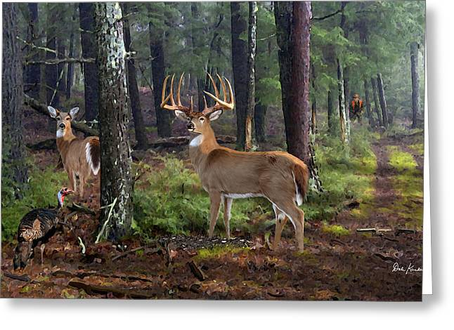 Wildlife Art Greeting Cards - Wildlife Art - Dream of Opening Day - Whitetail Deer Greeting Card by Dale Kunkel Art