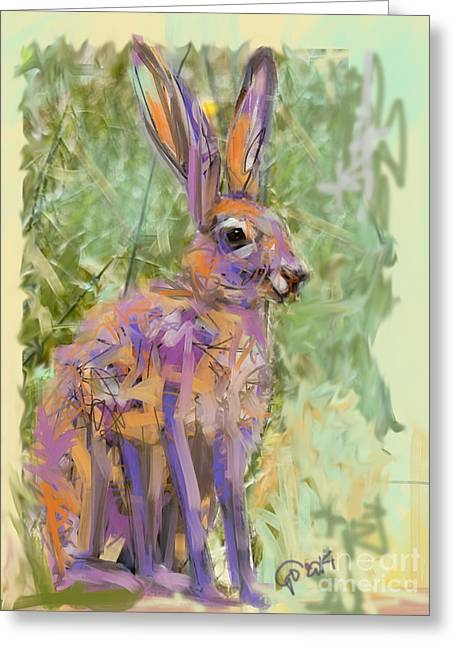 Hare Greeting Cards - Wildlife Haas Greeting Card by Go Van Kampen