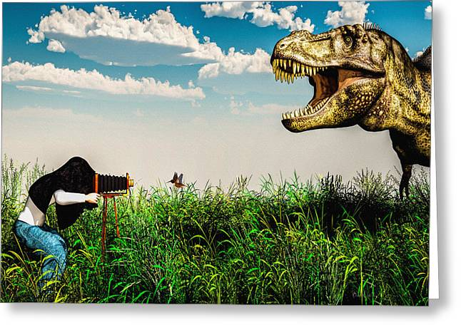 Tyrannosaurus Rex Greeting Cards - Wildlife Photographer  Greeting Card by Bob Orsillo