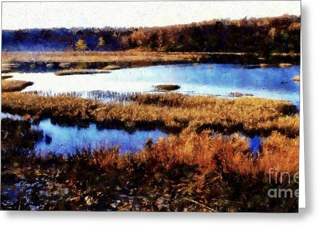 Wildlife Preserve Greeting Card by Janine Riley