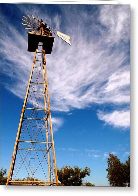 Wildomar Water Pump - California Greeting Card by Glenn McCarthy Art and Photography