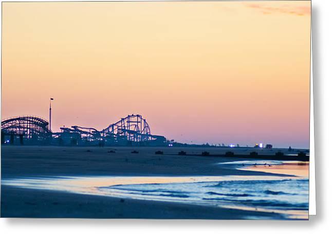Ocean Panorama Digital Art Greeting Cards - Wildwood Beach Panorama Greeting Card by Bill Cannon