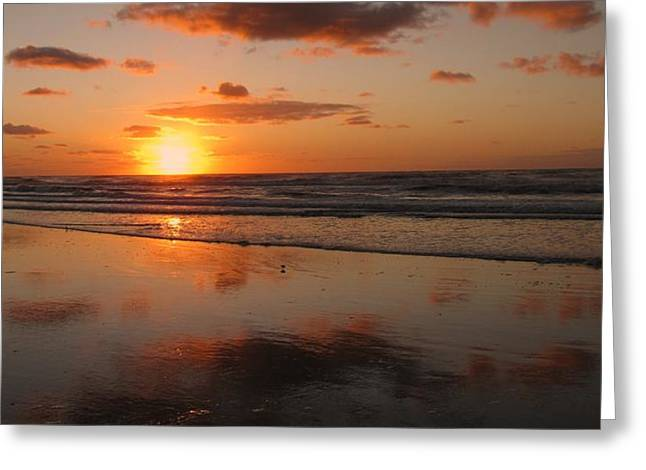 Wildwood Beach Sunrise Greeting Card by David Dehner