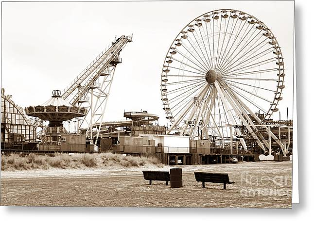 Photo Art Gallery Greeting Cards - Wildwood Beach View Greeting Card by John Rizzuto