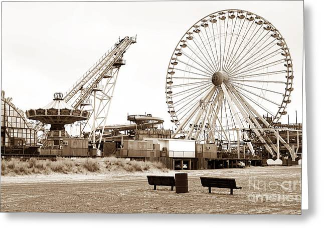 Wildwood Greeting Cards - Wildwood Beach View Greeting Card by John Rizzuto