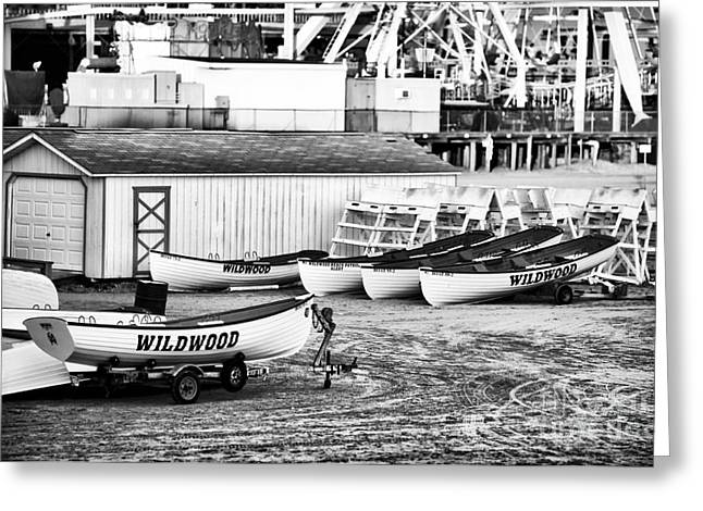 Wildwood Greeting Cards - Wildwood Boats Greeting Card by John Rizzuto