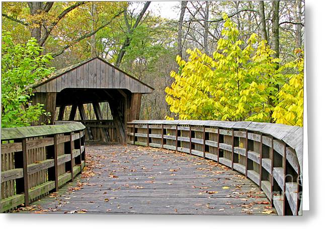 Wildwood Greeting Cards - Wildwood Covered Bridge 5666 Greeting Card by Jack Schultz