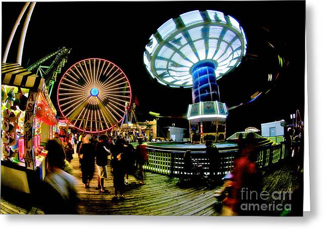 Wildwood Is A Happy Place Greeting Card by Mark Miller