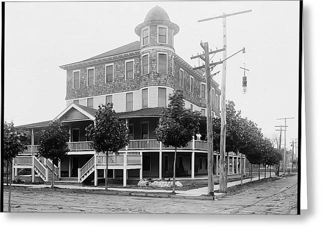 Wwi Greeting Cards - Wildwood New Jerseys Historic Severn Hall Hotel Greeting Card by Thom Fontannaz