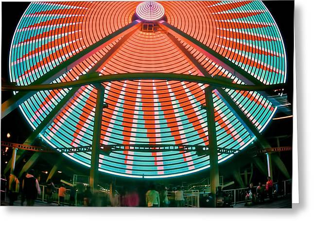 Wildwood's Giant Wheel Greeting Card by Mark Miller