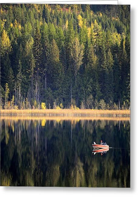 Smartphone Greeting Cards - Wilgress Lake British Columbia Greeting Card by Mary Lee Dereske