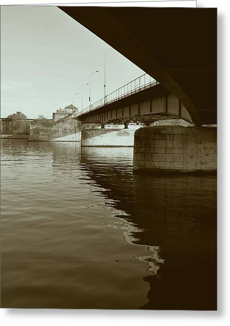 Limburg Greeting Cards - Wilhelmina Bridge in Maastricht Greeting Card by Nop Briex