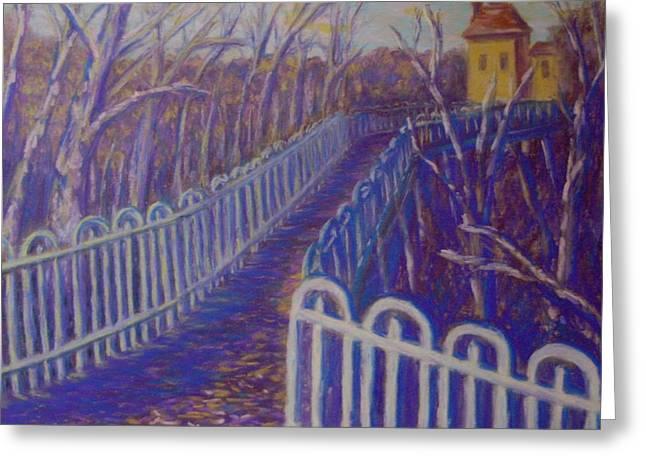 Pittsburgh Pastels Greeting Cards - Wilksboro Bridge Northside Pittsburgh Greeting Card by Joann Renner