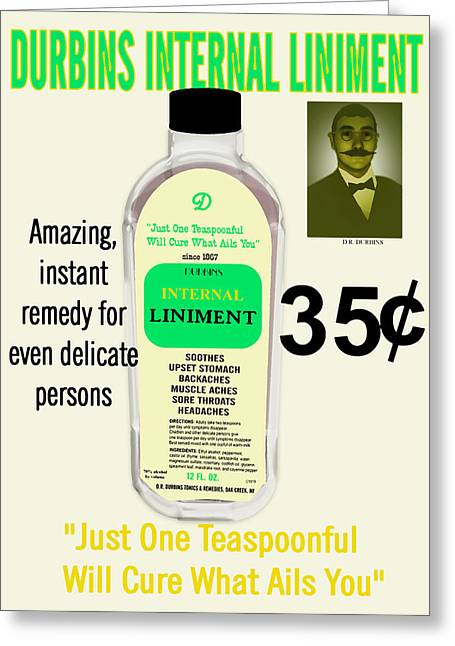 Liniment Greeting Cards - Will Cure What Ails You Greeting Card by Pharris Art