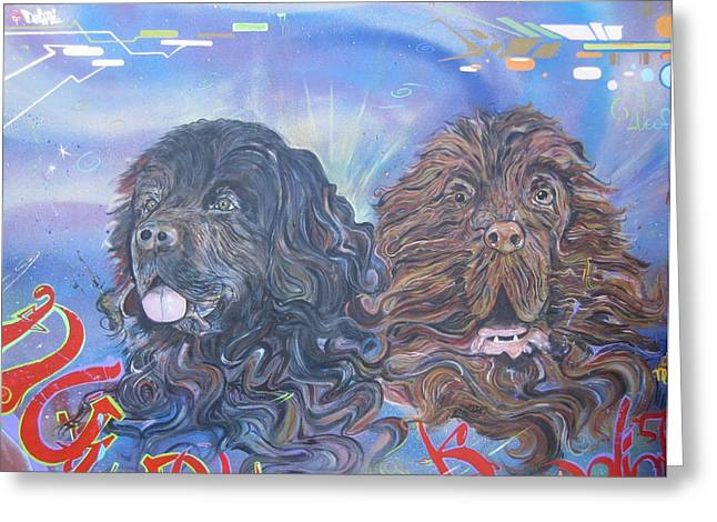 Dog Portraits Sculptures Greeting Cards - Will Do Commissions Greeting Card by Erik Franco