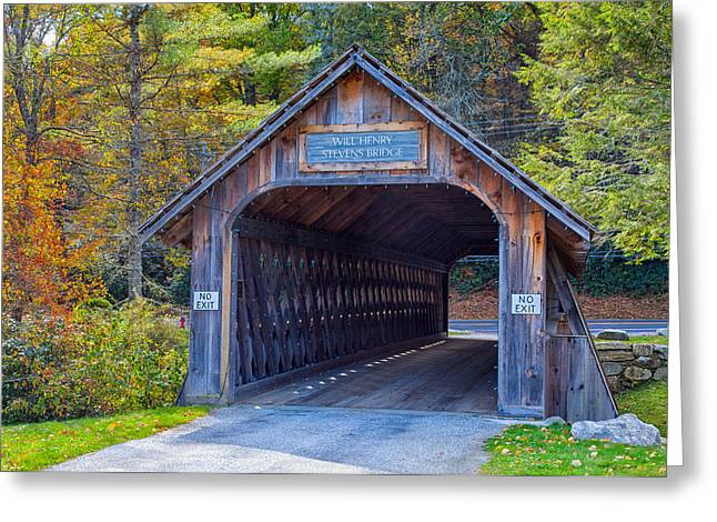 Mountain Road Greeting Cards - Will Henry Stevens Bridge Greeting Card by John Bailey