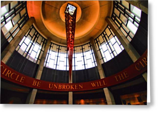 Architecture Of Nashville Greeting Cards - Will The Circle Be Unbroken Greeting Card by Dan Sproul